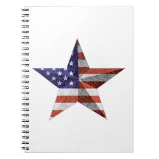 Caderno 4o do esboço da estrela de julho com textura da