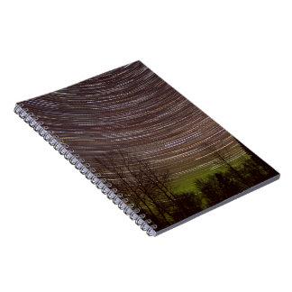 Caderno A aurora boreal - Aurora - estrela arrasta o
