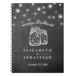 Caderno A corda elegante do frasco de pedreiro ilumina o