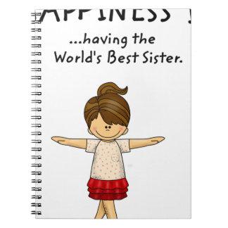 Caderno A felicidade… está tendo a melhor irmã. .pn do