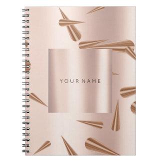 Caderno A geometria cora os pontos do ouro do rosa do rosa