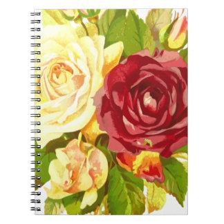 Caderno a planta floral da flor da flora aumentou