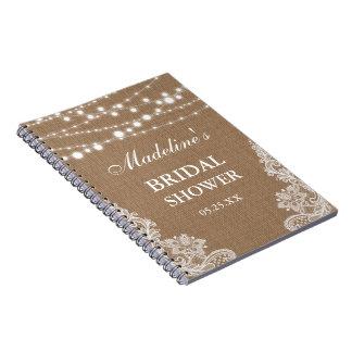 Caderno A serapilheira rústica do chá de panela ilumina a
