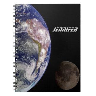 Caderno A terra e a lua