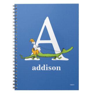 Caderno ABC do Dr. Seuss: Rotule A - O branco   adiciona