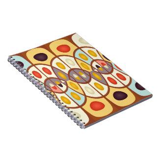 Caderno Abstrato geométrico ondulado