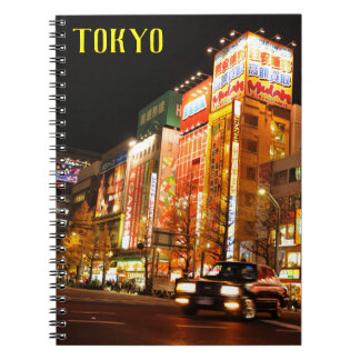 Caderno Akihabara (cidade elétrica) em Tokyo, Japão