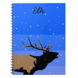 Caderno Alces de Bugling no inverno