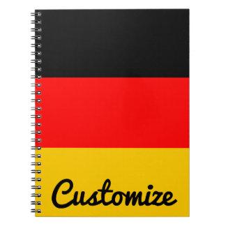 Caderno alemão do costume de Deutsche Flagge da