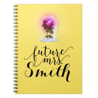 Caderno ALGUMA Sra. Enchanted COR do futuro da rosa