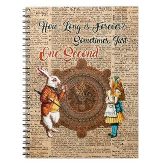 Caderno Alice & citações brancas da arte do dicionário do