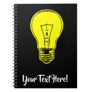 Caderno Amarelo da lâmpada