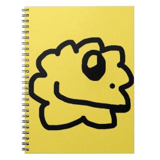 Caderno amarelo saudável verde
