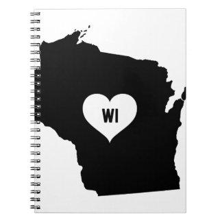 Caderno Amor de Wisconsin