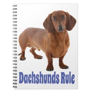 Caderno Amor do azul do cão de filhote de cachorro do