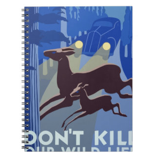 Caderno Animal dos animais selvagens do vintage