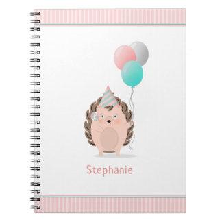 Caderno Aniversário bonito do ouriço