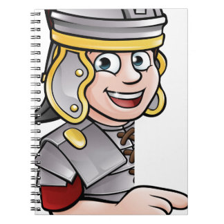 Caderno Apontar romano do soldado