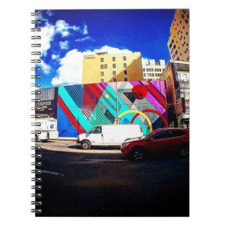 Caderno Arte colorida da rua