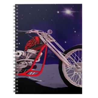 Caderno Arte do luar da motocicleta