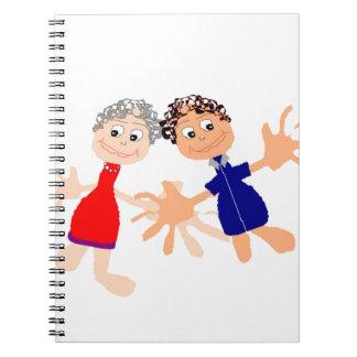 Caderno Arte gráfica - dois amigos