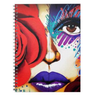 Caderno Arte moderna da rua de NYC
