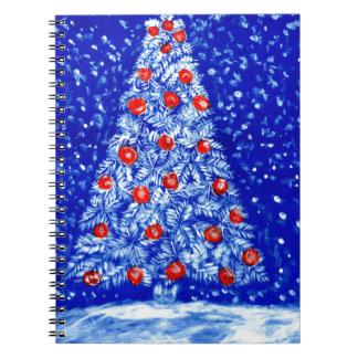 Caderno Árvore Art02 do Xmas