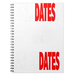 Caderno As únicas datas onde eu obtenho são actualizações