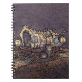Caderno assombrado da caravana da propriedade