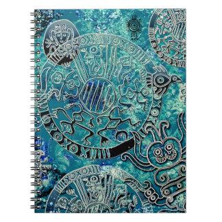 Caderno asteca da foto dos azuis (80 páginas B&W)