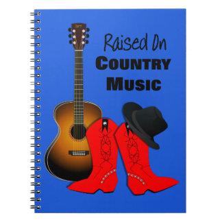 Caderno Aumentado na vaqueira legal da música country