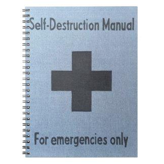 Caderno auto-destruição