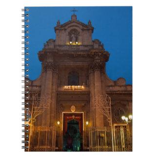 Caderno Ave Maria Church em Catania