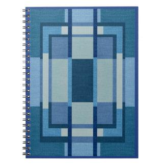 Caderno azul da foto da espiral do design da