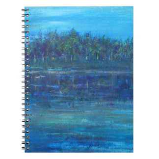 Caderno azul da foto dos oásis