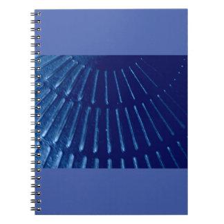 Caderno azul do feixe