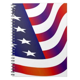 Caderno Bandeira americana