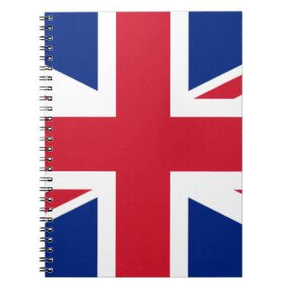 """Caderno Bandeira BRITÂNICA """"Union Jack """" de Reino Unido da"""