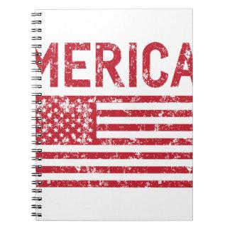 Caderno Bandeira de Merica