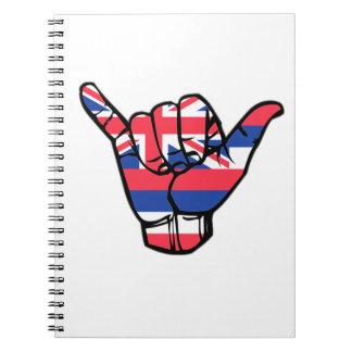 Caderno Bandeira de Shaka Havaí