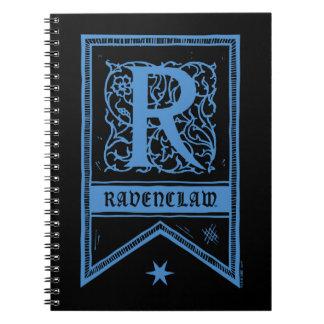 Caderno Bandeira do monograma de Harry Potter | Ravenclaw