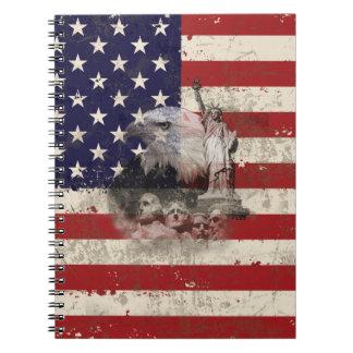 Caderno Bandeira e símbolos dos Estados Unidos ID155