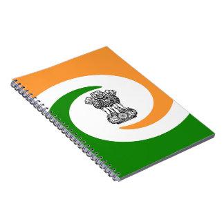 Caderno Bandeira indiana