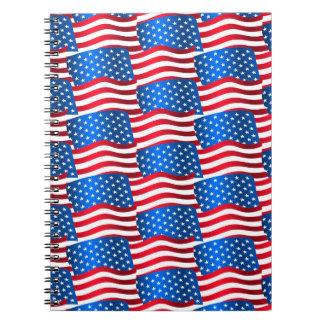 Caderno Bandeiras dos EUA