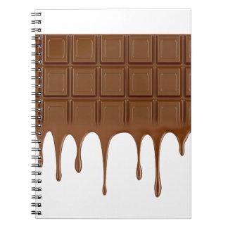 Caderno Bar de chocolate derretido