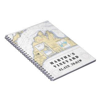 Caderno Barqueiro da longitude da latitude do Martha's