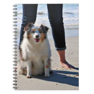 Caderno Bennett - mini australiano - Rosie - praia de