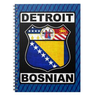 Caderno Bloco de notas americano bosniano de Detroit
