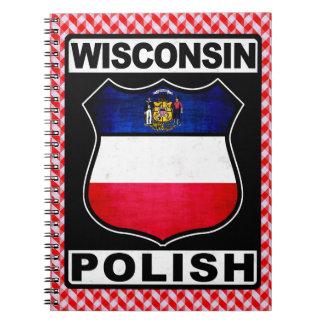 Caderno Bloco de notas americano polonês de Wisconsin