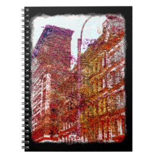 Caderno Bloco de notas de Soho, Nova Iorque